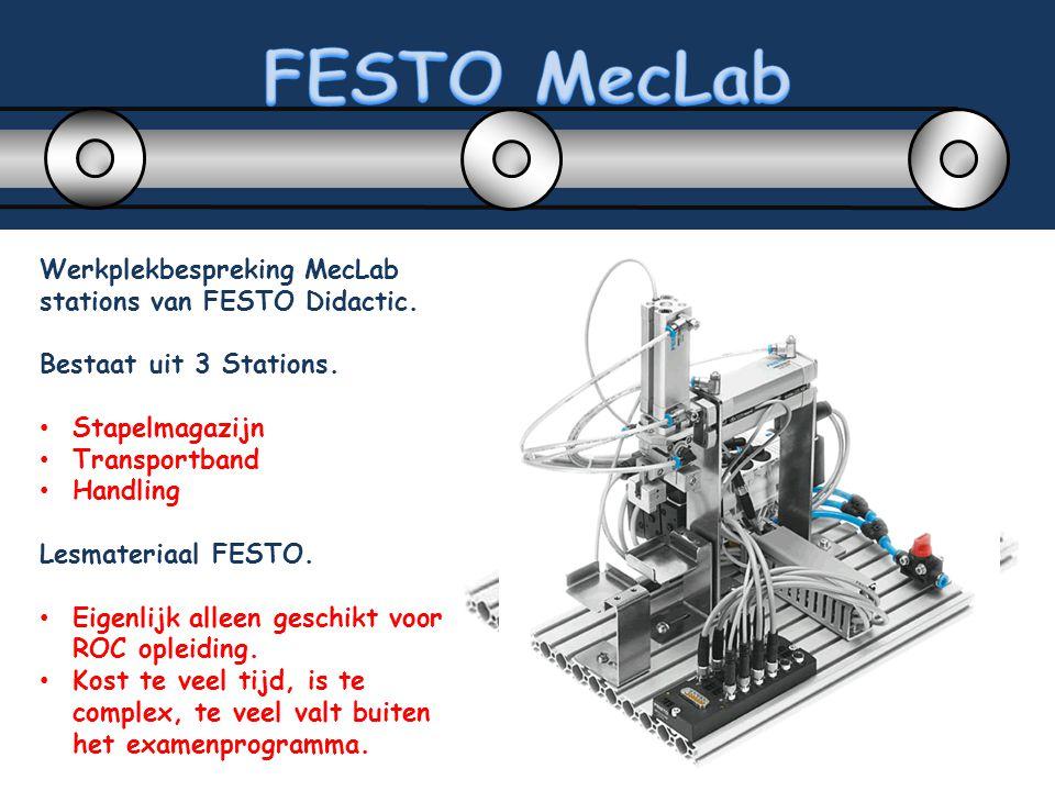 FESTO MecLab Werkplekbespreking MecLab stations van FESTO Didactic.