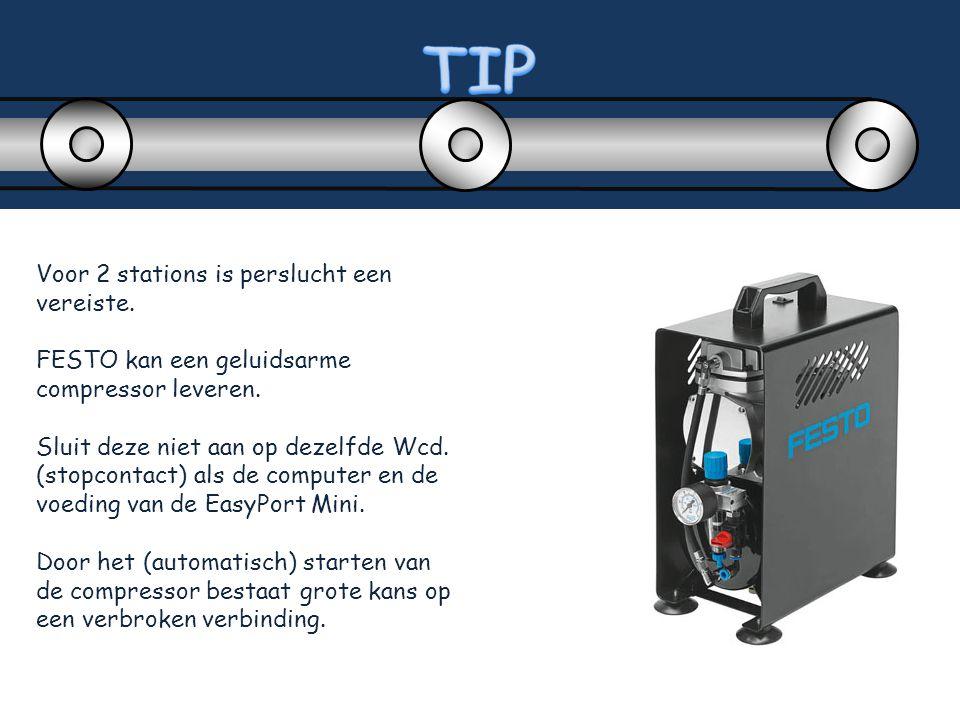 TIP Voor 2 stations is perslucht een vereiste.