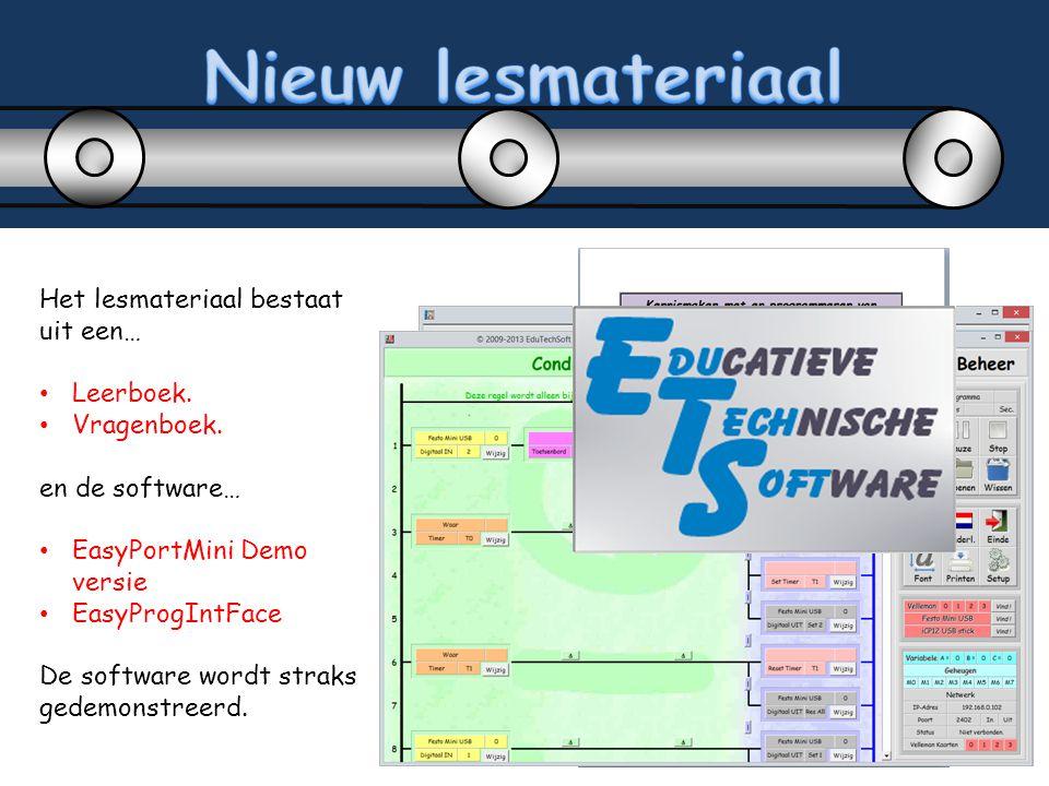 Nieuw lesmateriaal Het lesmateriaal bestaat uit een… Leerboek.