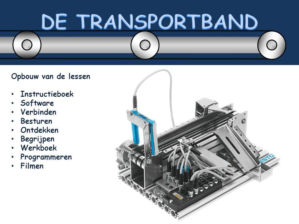 DE TRANSPORTBAND Opbouw van de lessen Instructieboek Software