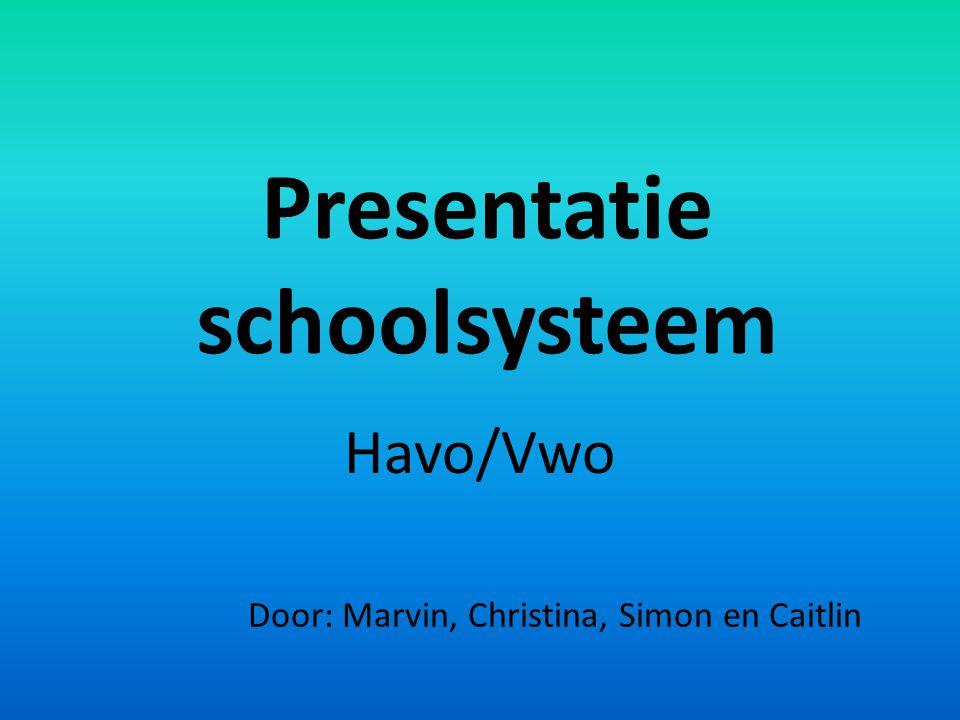 Presentatie schoolsysteem