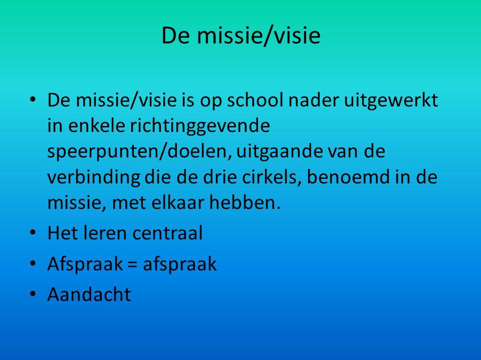 De missie/visie