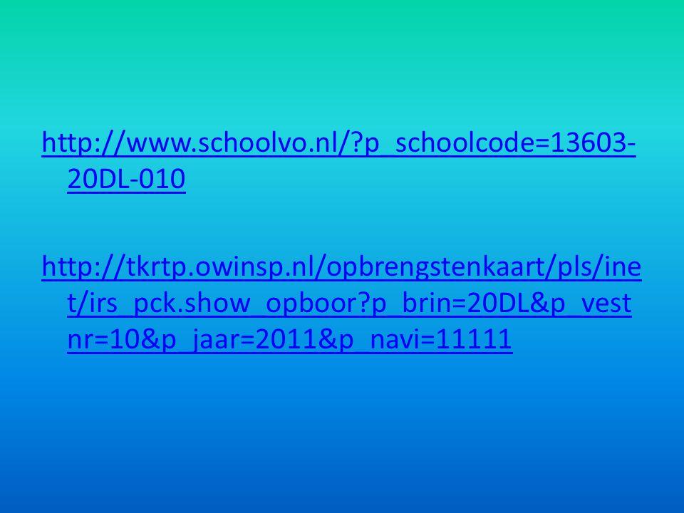 http://www. schoolvo. nl/. p_schoolcode=13603-20DL-010 http://tkrtp