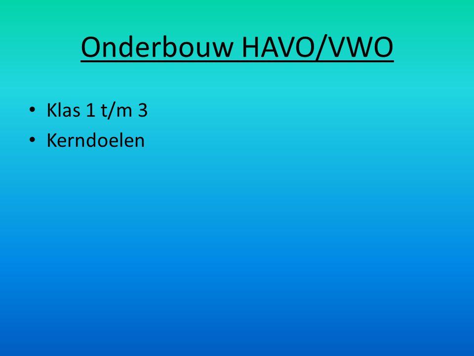 Onderbouw HAVO/VWO Klas 1 t/m 3 Kerndoelen