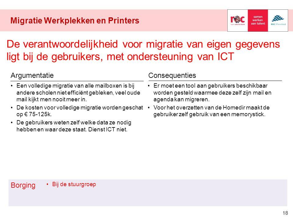 Migratie Werkplekken en Printers