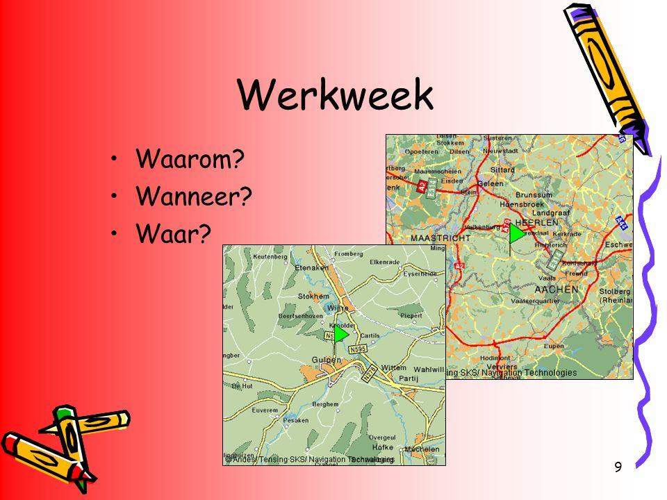Werkweek Waarom Wanneer Waar Gulpen Geuldal Plateau van Margraten