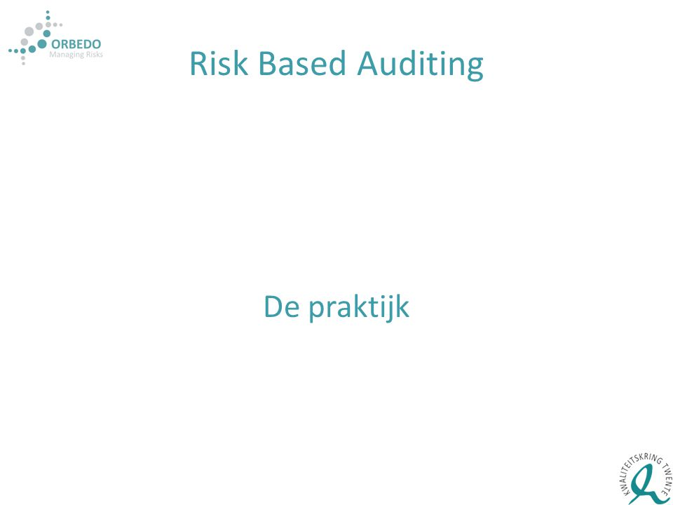 Risk Based Auditing De praktijk