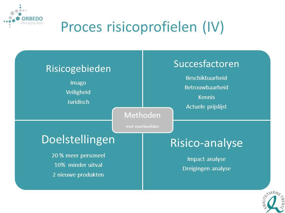 Proces risicoprofielen (IV)
