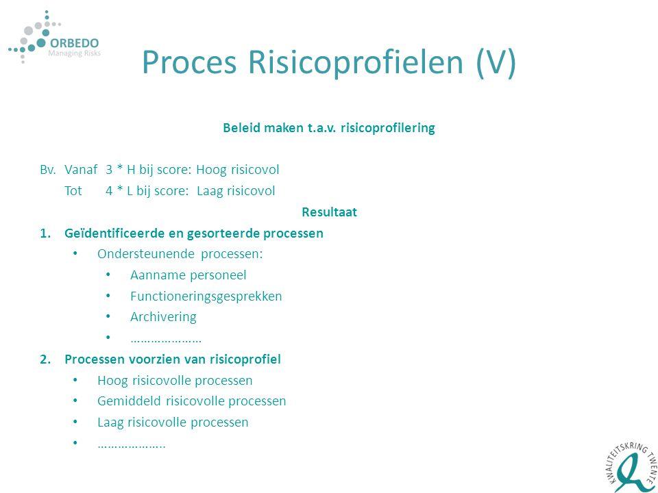 Proces Risicoprofielen (V)
