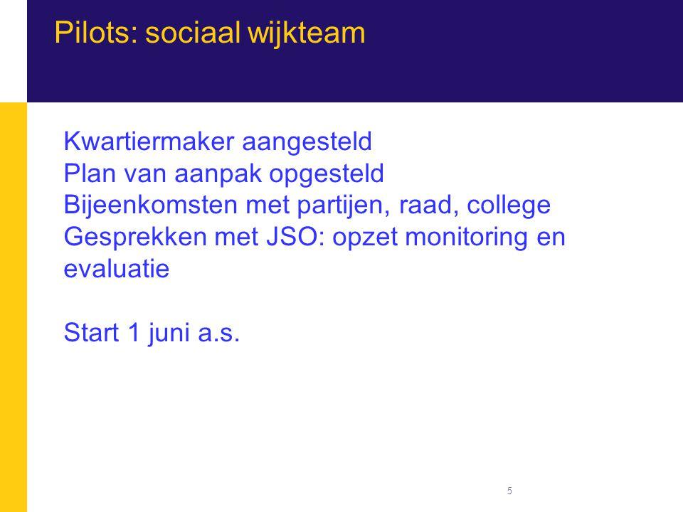 Pilots: sociaal wijkteam