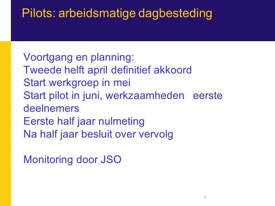 Pilots: arbeidsmatige dagbesteding