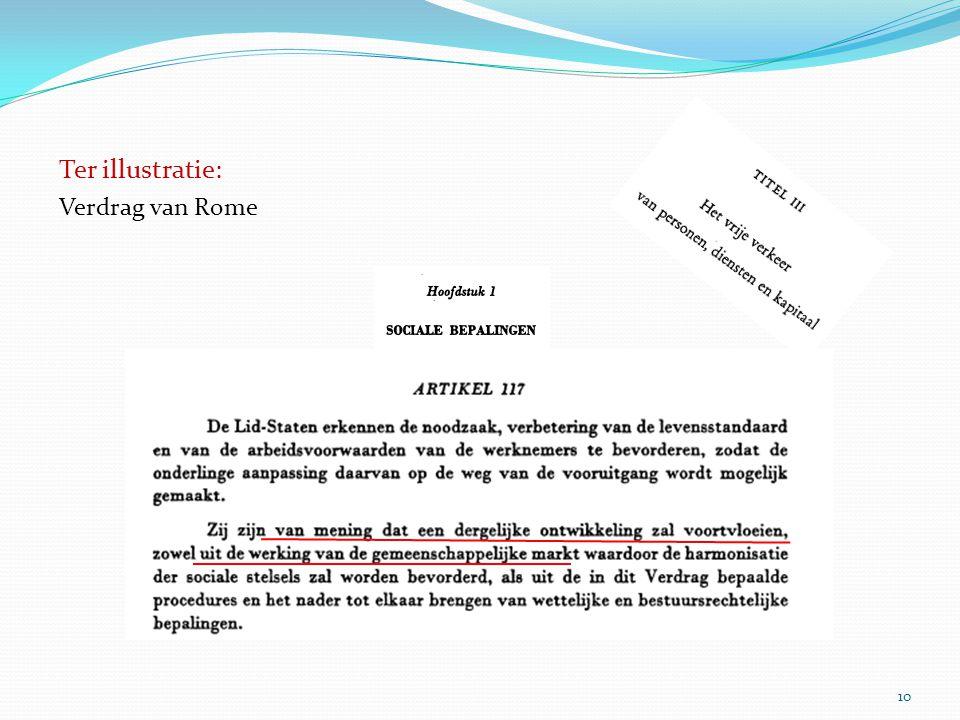 Ter illustratie: Verdrag van Rome