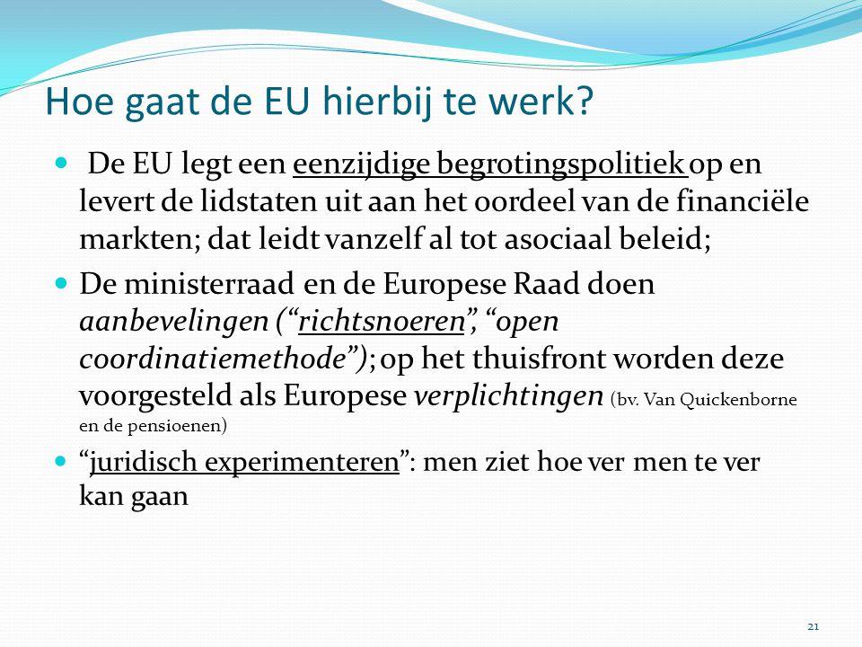 Hoe gaat de EU hierbij te werk