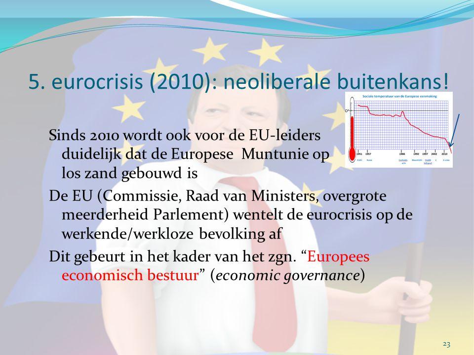 5. eurocrisis (2010): neoliberale buitenkans!