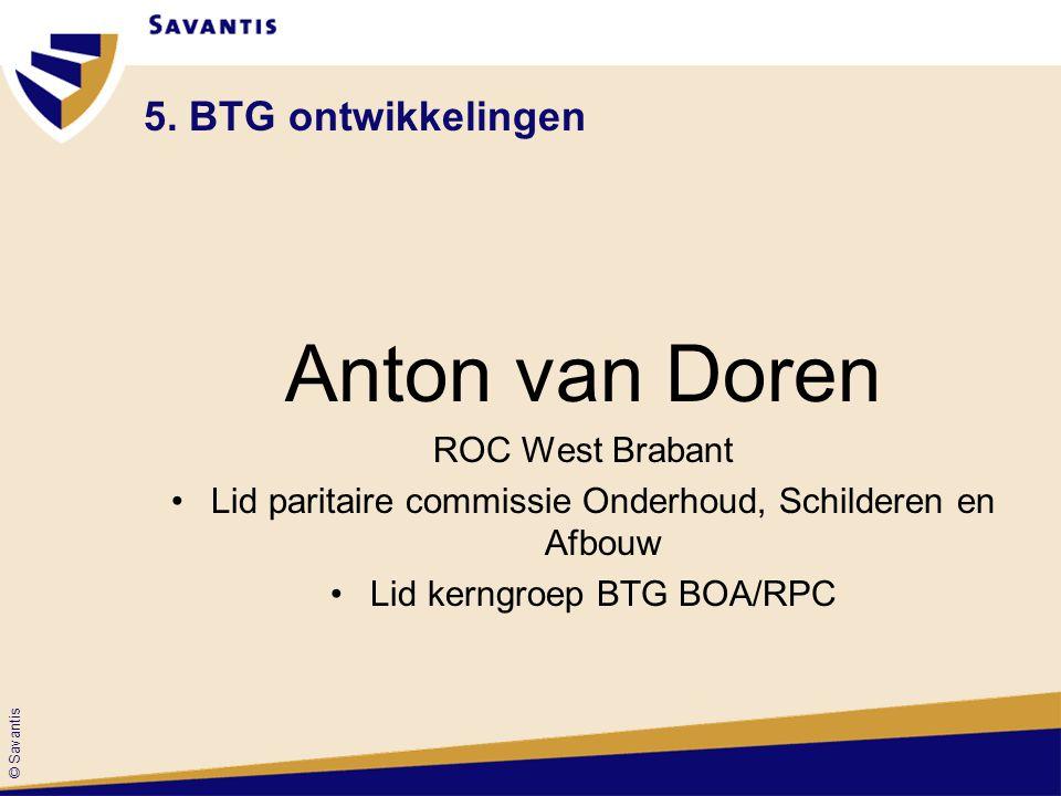 Anton van Doren 5. BTG ontwikkelingen ROC West Brabant