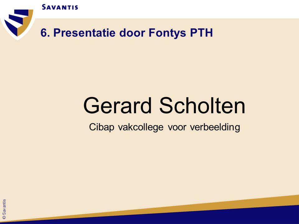 6. Presentatie door Fontys PTH
