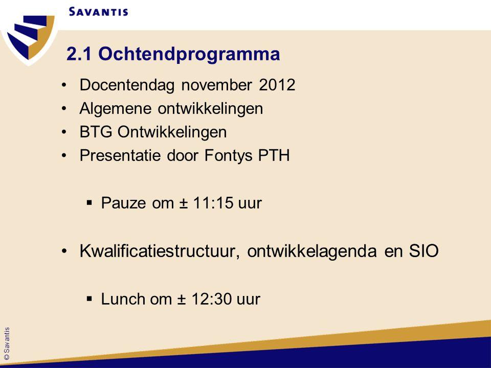 2.1 Ochtendprogramma Kwalificatiestructuur, ontwikkelagenda en SIO