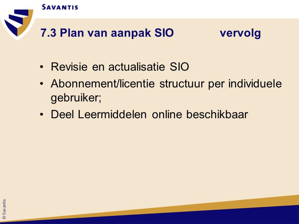 7.3 Plan van aanpak SIO vervolg
