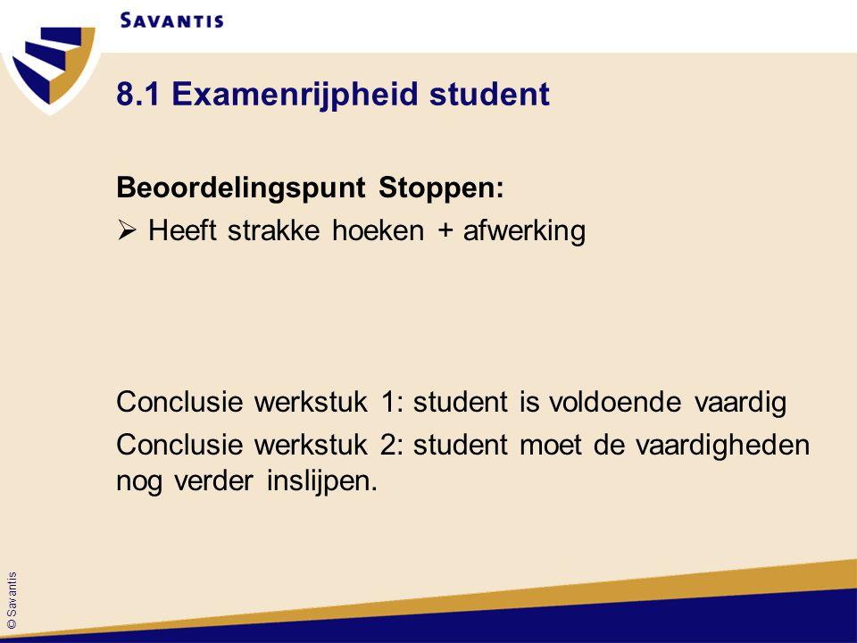 8.1 Examenrijpheid student