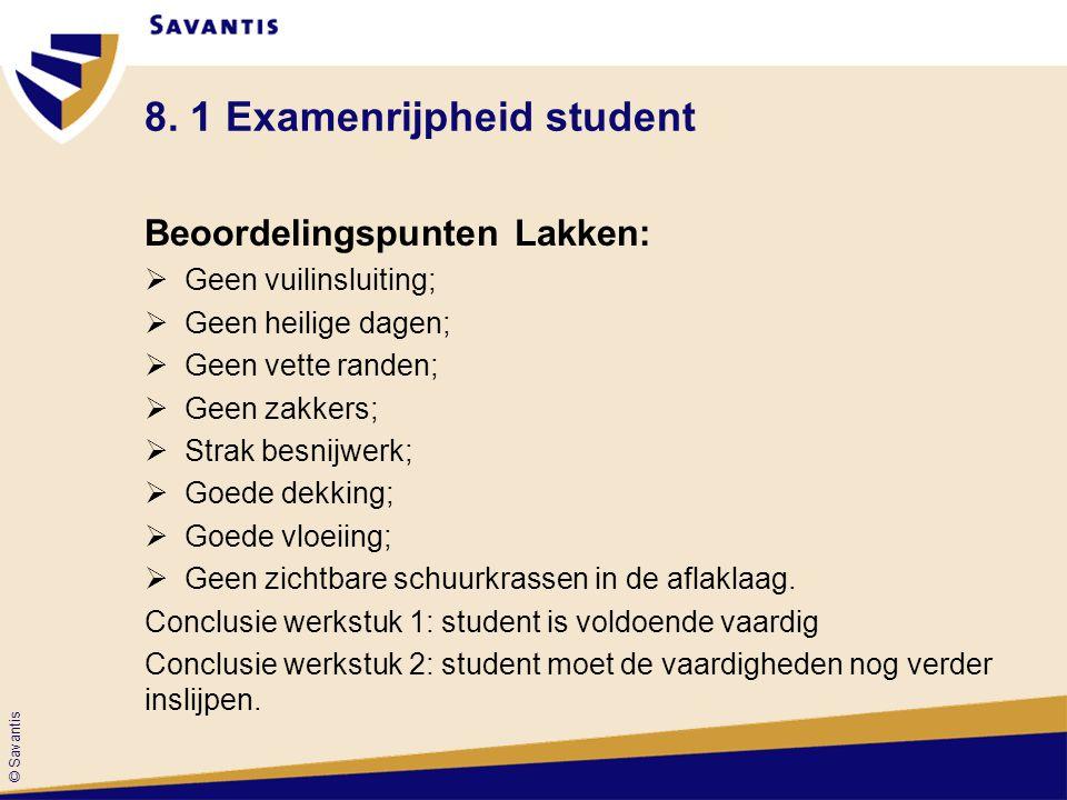 8. 1 Examenrijpheid student
