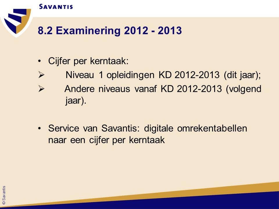 8.2 Examinering 2012 - 2013 Cijfer per kerntaak: