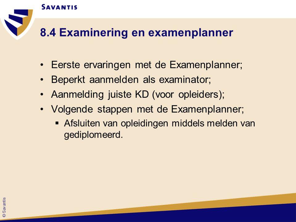 8.4 Examinering en examenplanner
