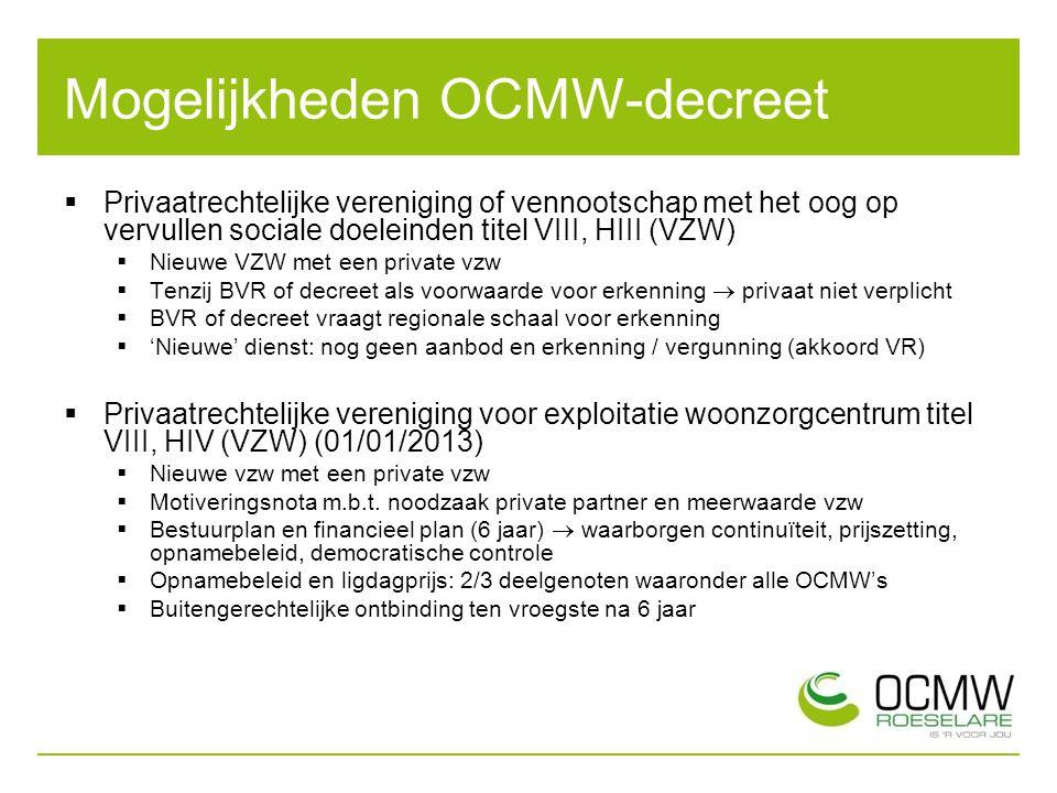 Mogelijkheden OCMW-decreet
