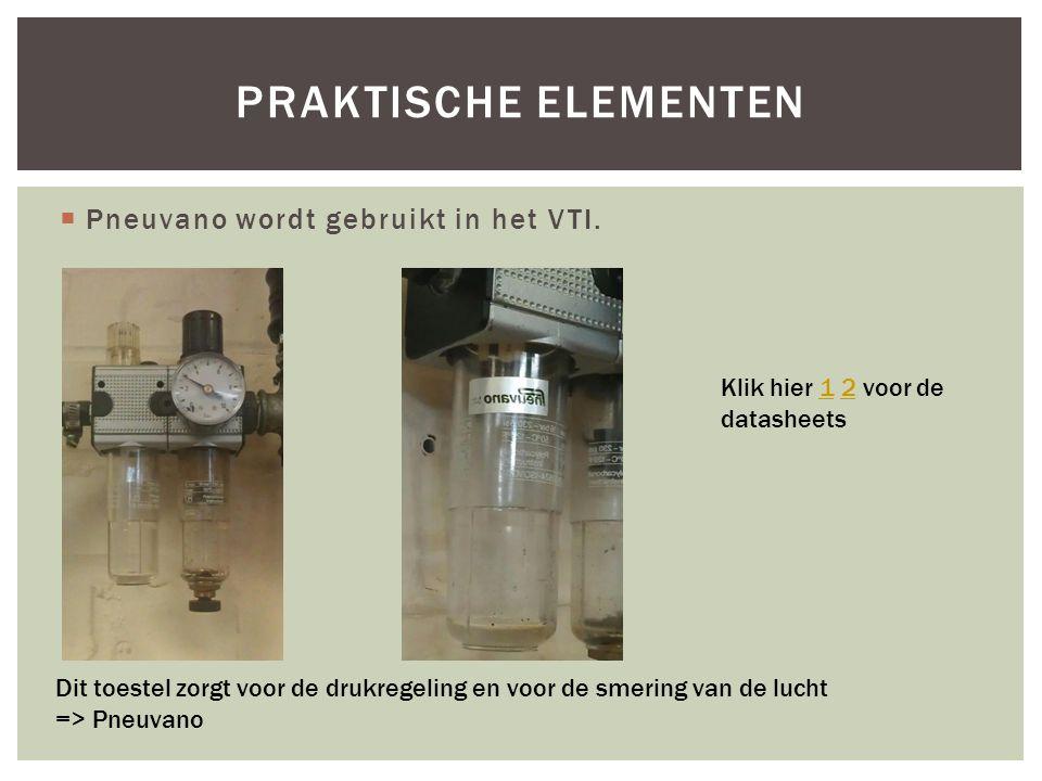 Praktische elementen Pneuvano wordt gebruikt in het VTI.