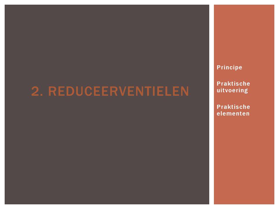 Principe Praktische uitvoering Praktische elementen
