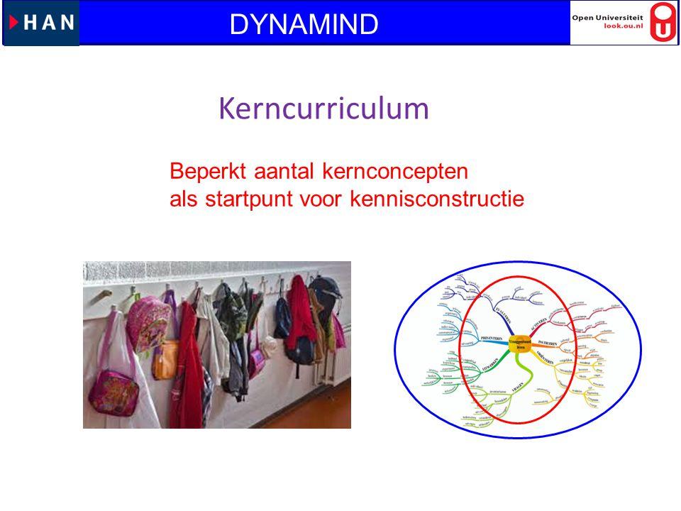 Kerncurriculum DYNAMIND Beperkt aantal kernconcepten