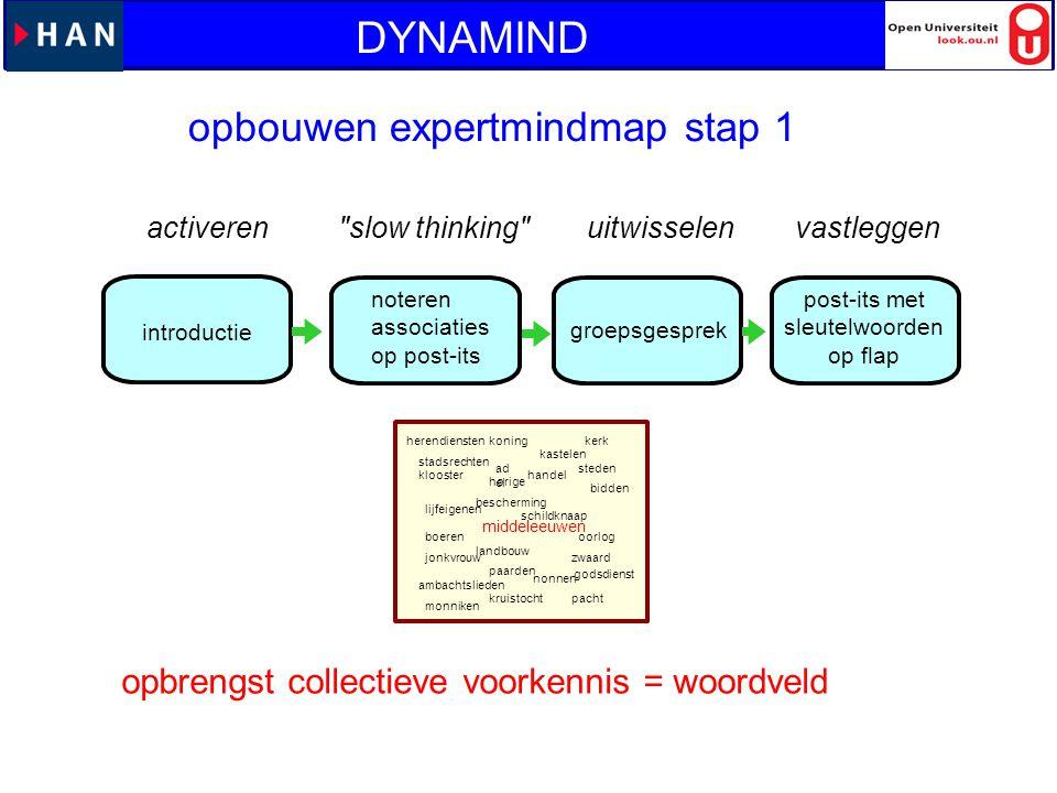 DYNAMIND opbouwen expertmindmap stap 1