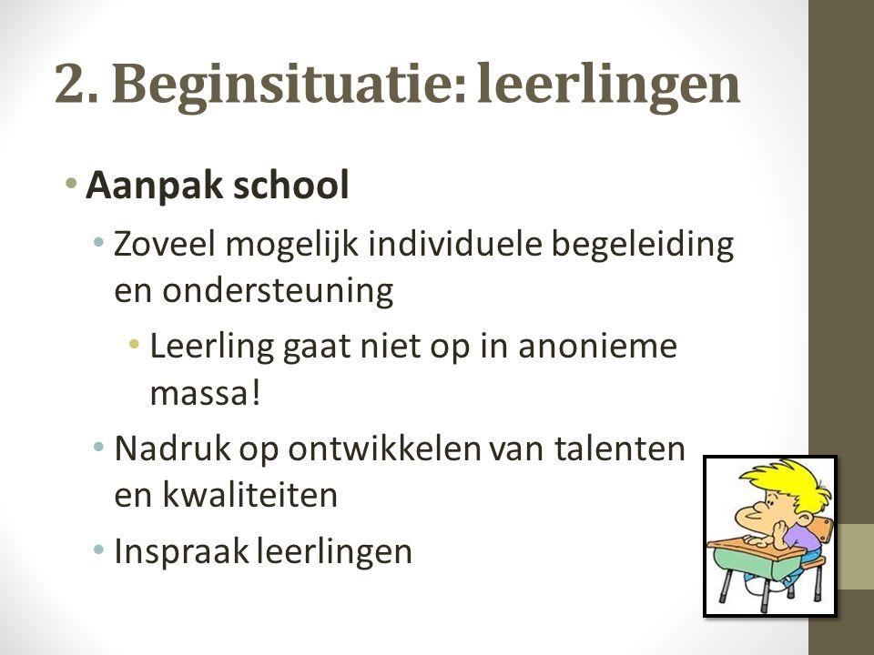 2. Beginsituatie: leerlingen