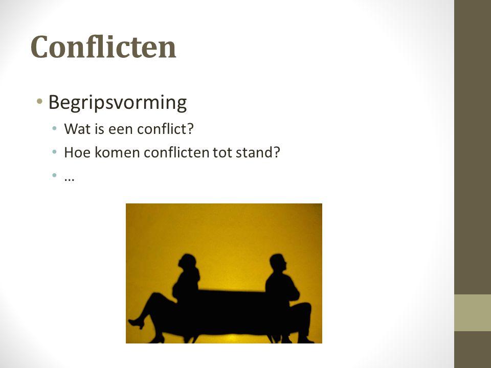 Conflicten Begripsvorming Wat is een conflict