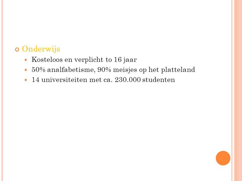 Onderwijs Kosteloos en verplicht to 16 jaar