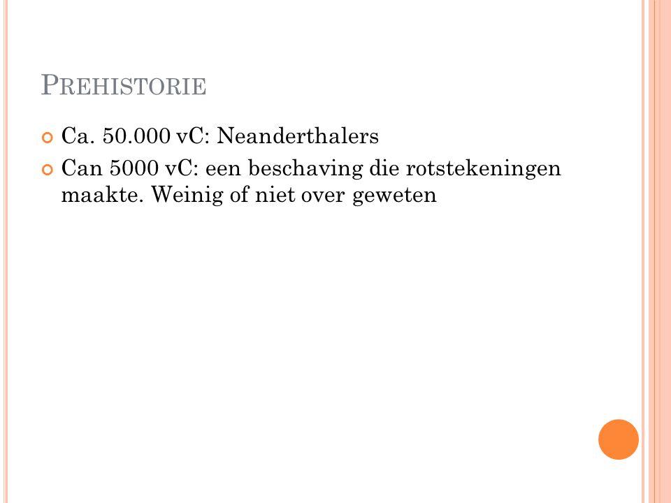 Prehistorie Ca. 50.000 vC: Neanderthalers