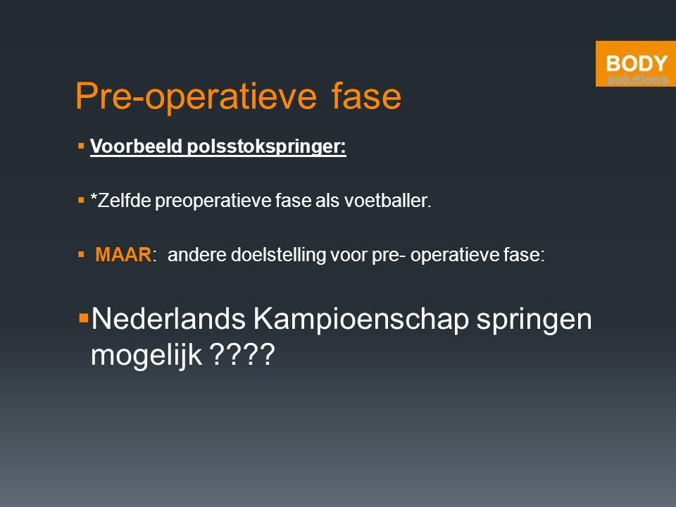 Pre-operatieve fase Nederlands Kampioenschap springen mogelijk