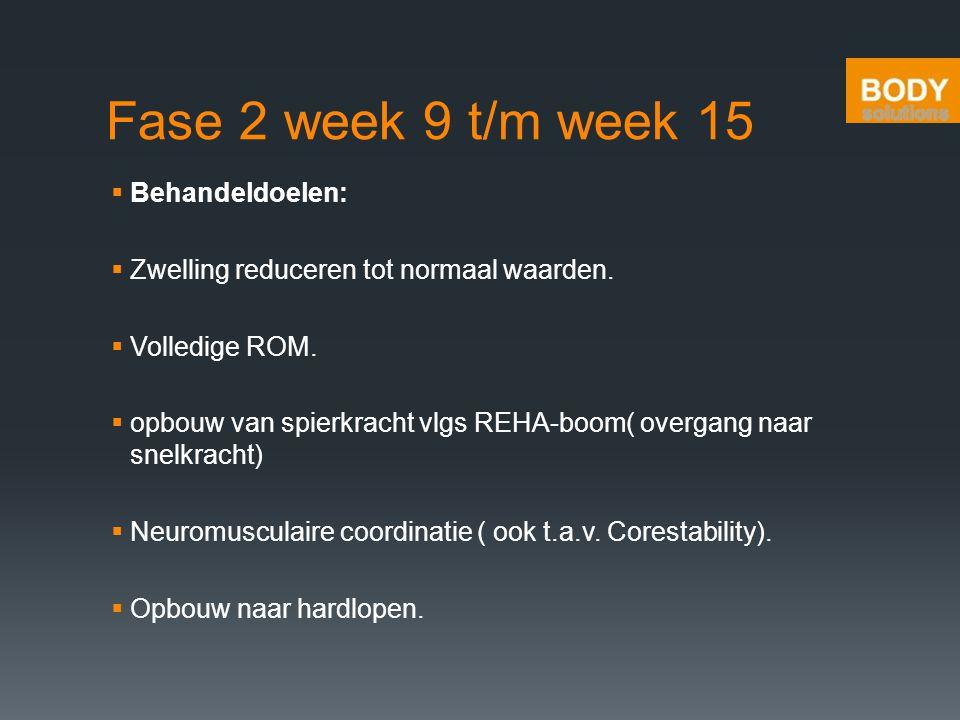 Fase 2 week 9 t/m week 15 Behandeldoelen: