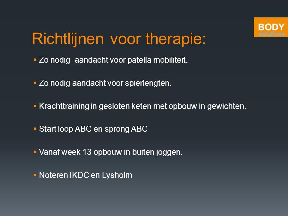 Richtlijnen voor therapie: