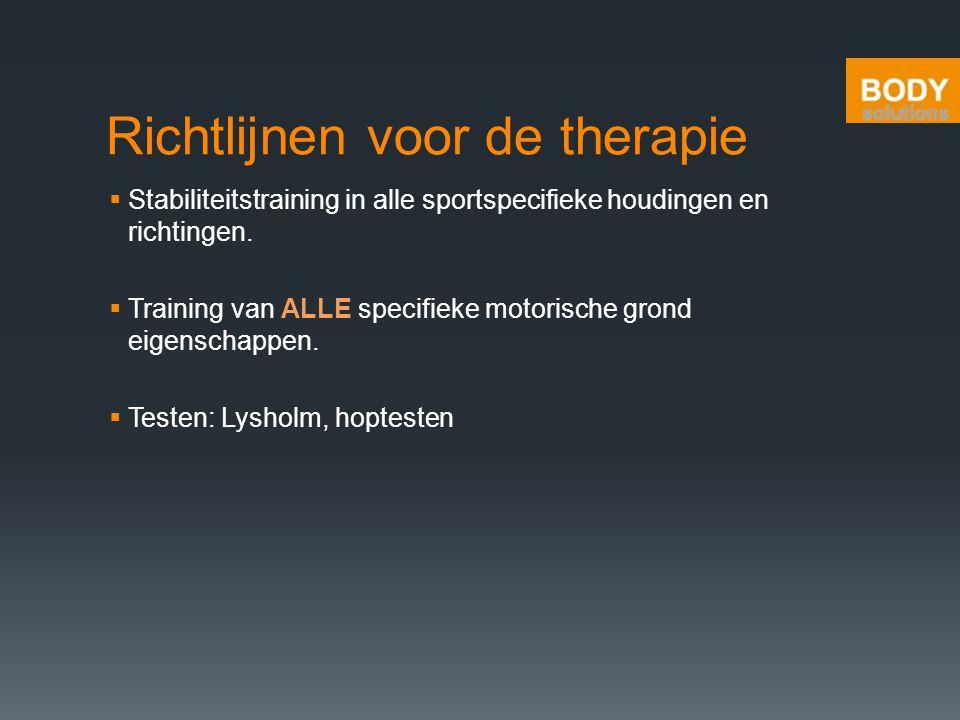 Richtlijnen voor de therapie