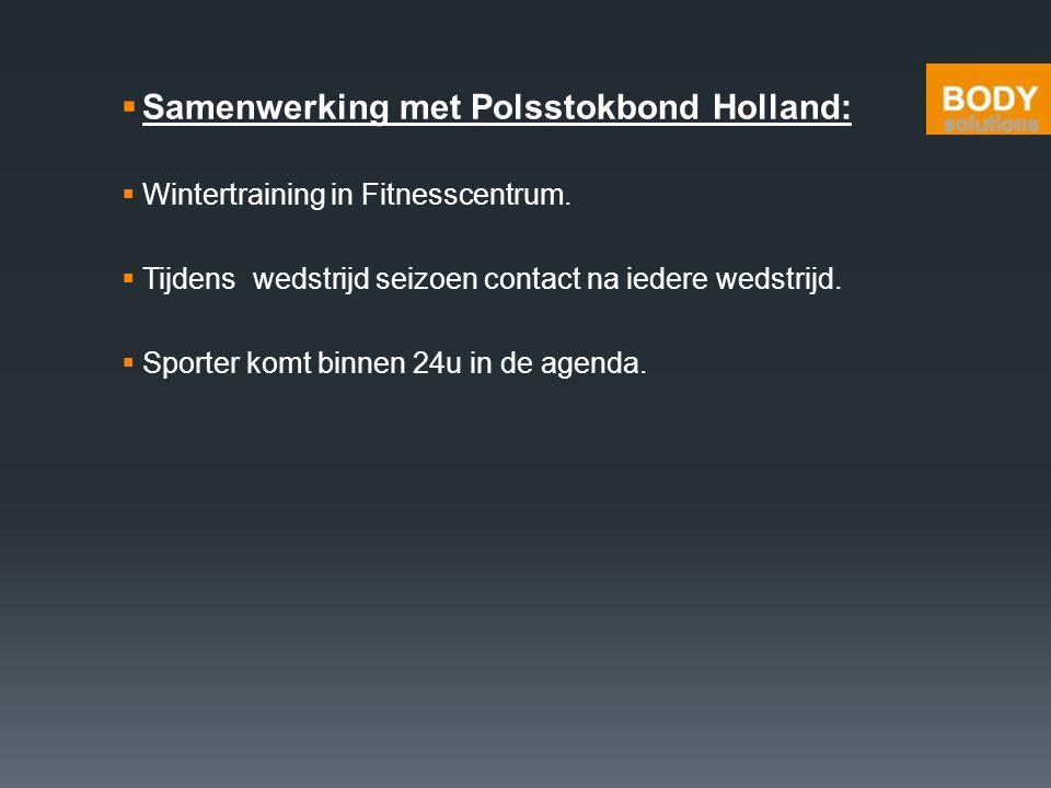 Samenwerking met Polsstokbond Holland: