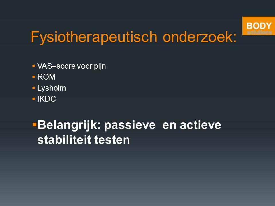 Fysiotherapeutisch onderzoek:
