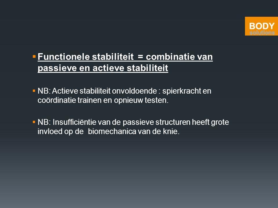 Functionele stabiliteit = combinatie van passieve en actieve stabiliteit
