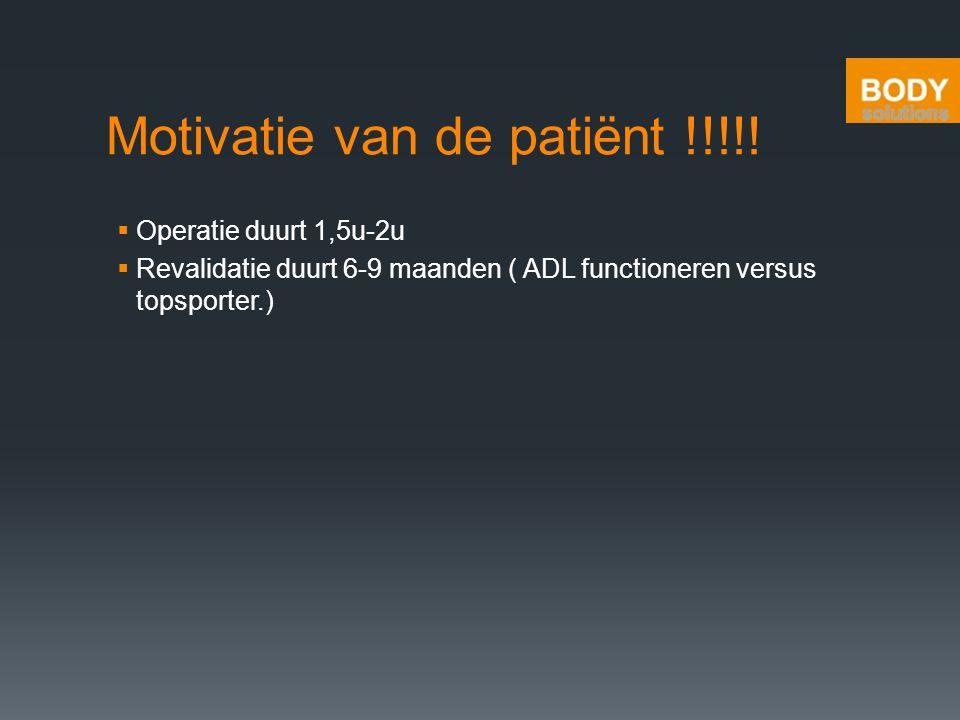 Motivatie van de patiënt !!!!!