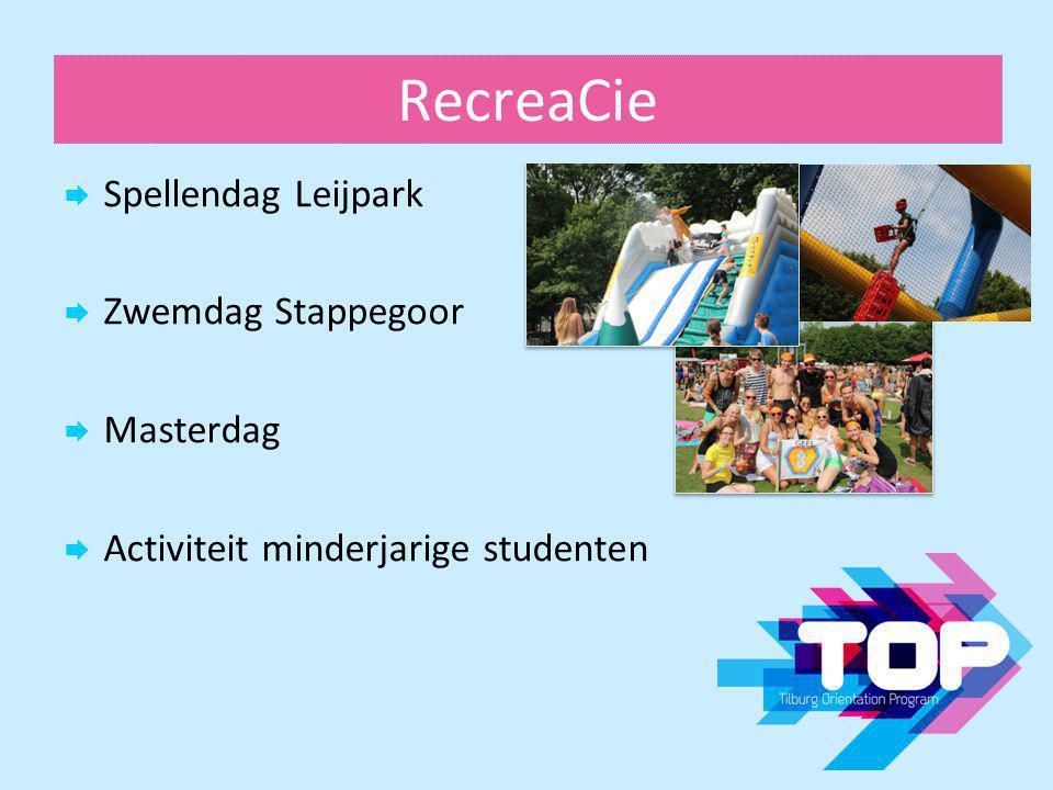 RecreaCie Spellendag Leijpark Zwemdag Stappegoor Masterdag