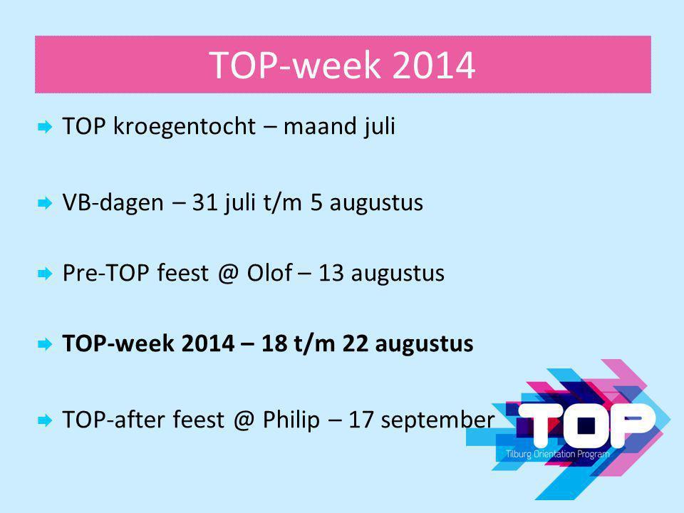 TOP-week 2014 TOP kroegentocht – maand juli
