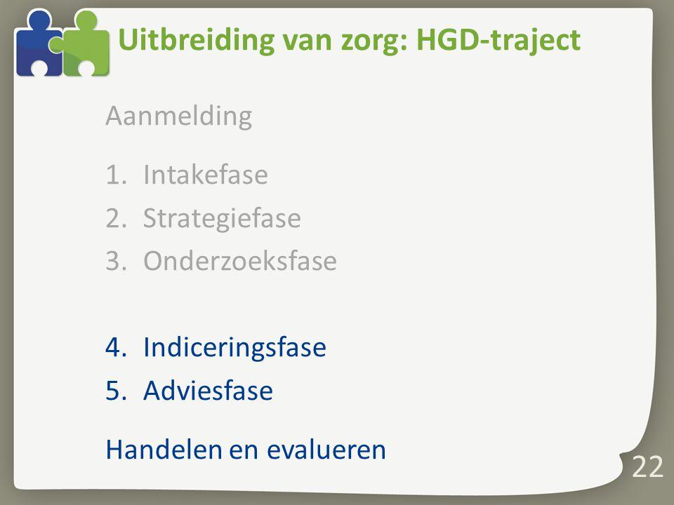 Uitbreiding van zorg: HGD-traject