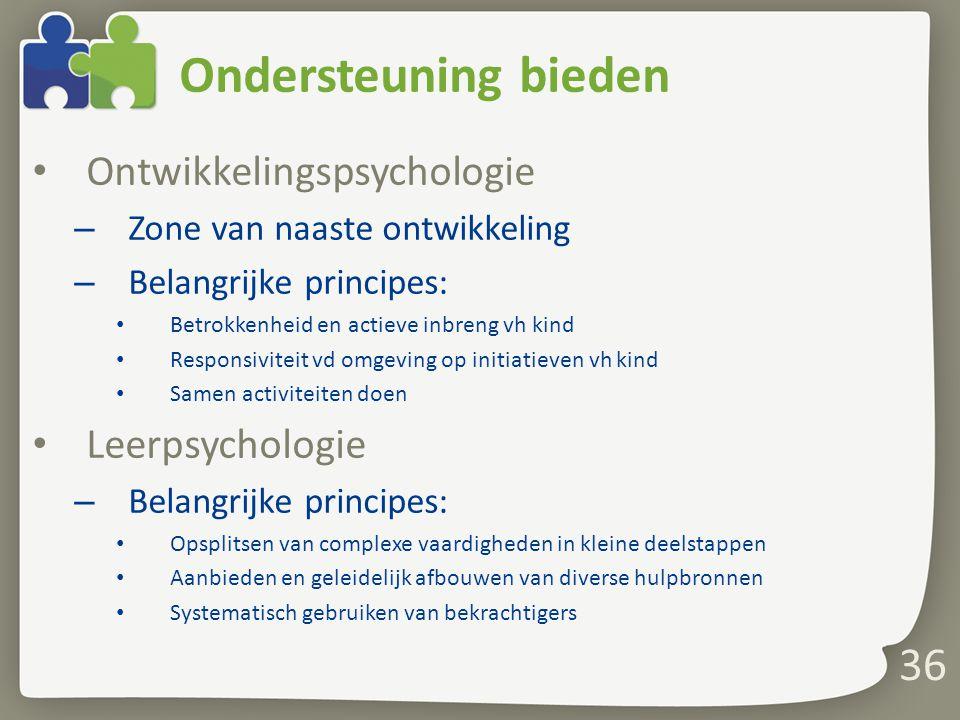 Ondersteuning bieden Ontwikkelingspsychologie Leerpsychologie