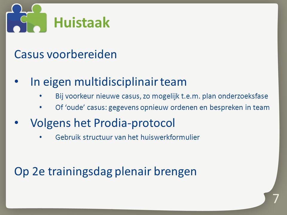 Huistaak Casus voorbereiden In eigen multidisciplinair team