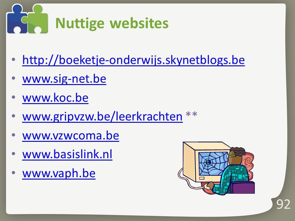 Nuttige websites http://boeketje-onderwijs.skynetblogs.be