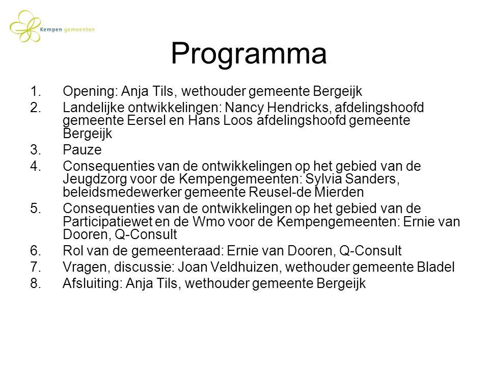 Programma Opening: Anja Tils, wethouder gemeente Bergeijk